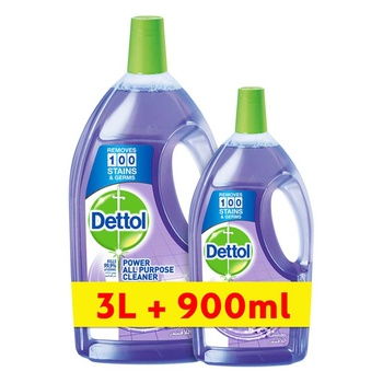 Dettol Lavender Healthy Home All- Purpose Cleaner 3L + 900 ml