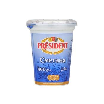 President Sour Cream 15% 400g