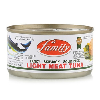 Family Light Meat Tuna Solid In Oil 200g