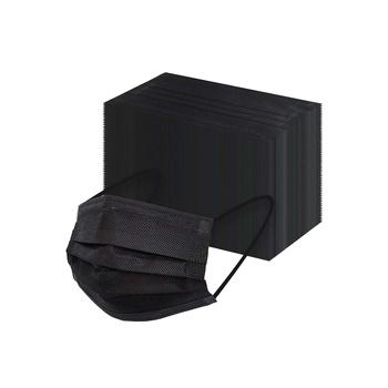 Disposable Protective 3 Layered Non Woven-Face Mask (Black)