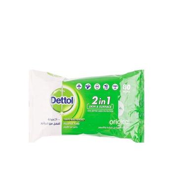 Dettol Anti-Bacterial Multi-Use Wipes Original 80s