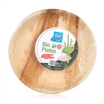 Fun® Palm Bio Leaf Round Plate 10 inches 10 pcs