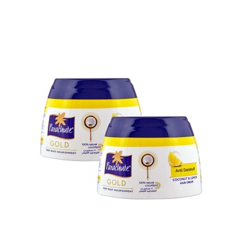 Parachute Gold Anti Dandruff Coconut & Lemon Hair Cream 2 x 140 ml @ Special Price