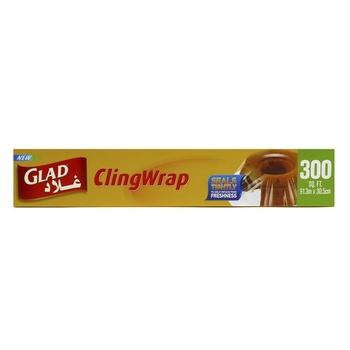 Glad Cling Wrap 91.3 X 30.5 300 Sq. Ft.