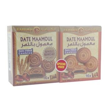 Al Karamah Date Maamoul + Wheat Maamoul 2 x 16 x 30g