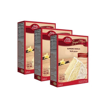 Betty Crocker Super Moist Vanilla 3X510g