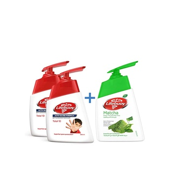 Lifebuoy hand wash mild care, 200ml (pack of 2) + 180ml