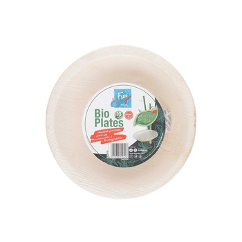 Fun Palm Bio Leaf Round Plate 6Inches 10s pack