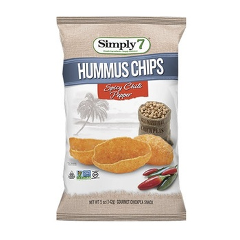 Simply7 Chips Hummus Spicy 4.6Oz