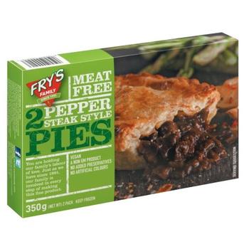 Frys Pepper Steak Style Pie 350g