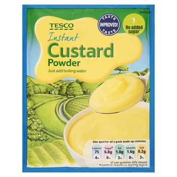 Tesco No Added Sugar Custard Mix 70g