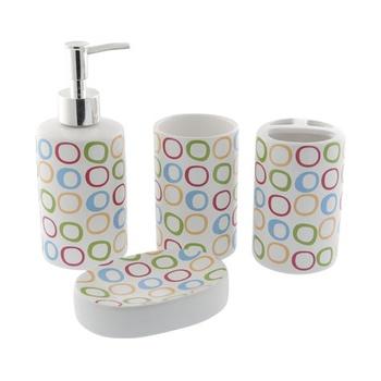 Ceramic Bathroom Set - 4 Pcs