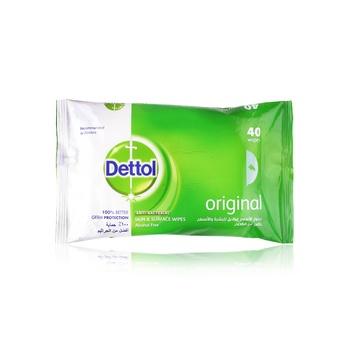 Dettol Anti-Bacterial Multi-Use Wipes Original 40s