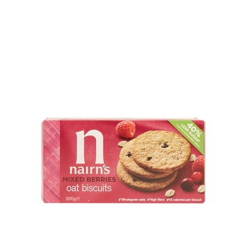 Nairns Mixed Berries Wheat Free Biscuit  200g