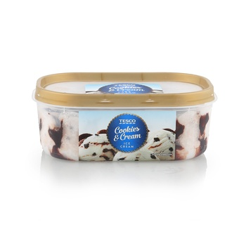 Tesco Cookies & Cream Ice Cream 900ml