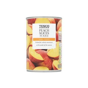 Tesco Peach Slices In Juice 410g