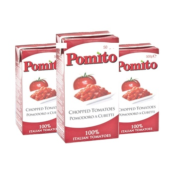 Pomito Chopped Tomatoes 500g Pack of 3