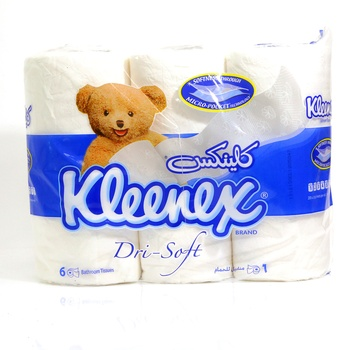 Kleenex Bathroom Tissue Dri-Soft 122 X 106 mm 6 pcs