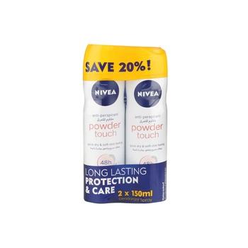 Nivea Black & White Original Quick Dry Deodorant Spray 150ml Pack Of 2