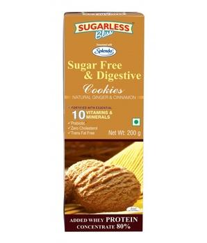 Splenda Sugar Free & Digestive Cookies Ginger & Cinnamon 200g