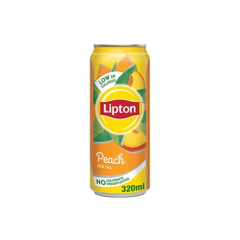 Lipton Peach Ice Tea, Non-Carbonated Low Calories Refreshing Drink,320ml