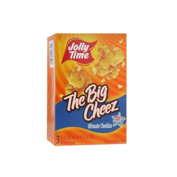 Jolly Time Microwave Pop Corn Cheddar Cheese 10.5 oz