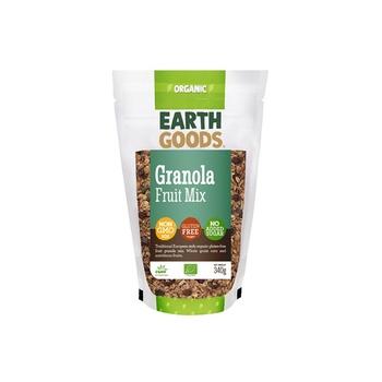 Earth Goods Organic Gluten Free Fruit Granola Mix 340g