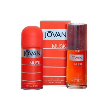 Jovan Musk Pour Homme Cologne 88ml + White Body Spray for Men 150ml