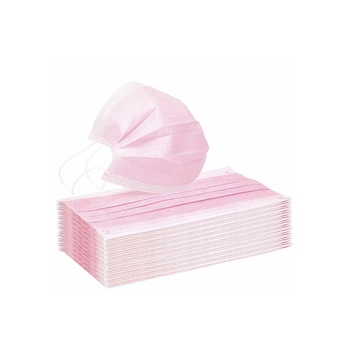 Disposable protective 3 layered non woven-face mask (pink)