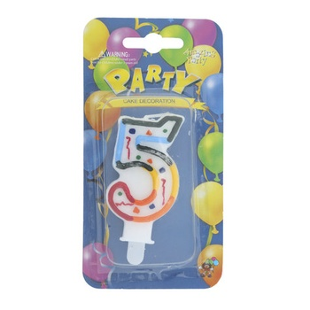 Numerical Birthday Candle Number - 5