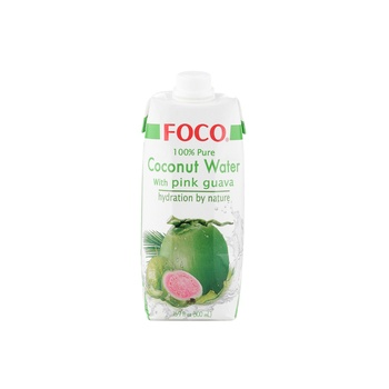 Foco Coconut Water Pink Guava 500ml