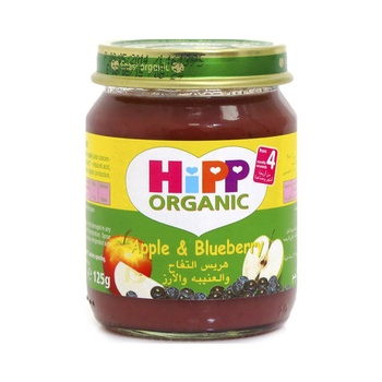 Hipp Organic Baby Food Apple & Blueberry 125g