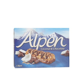Alpen Coconut & Chocolate 5 Pack Cereal Bars 145g
