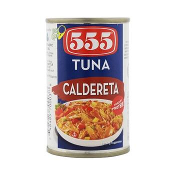 555 Tuna Flakes Caldereta 155g