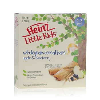 Heinz Little Kids Whole Grain Bars Apple & Blueberry 90g