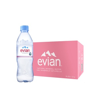 Evian Prestige Natural Mineral Water 24x500ml