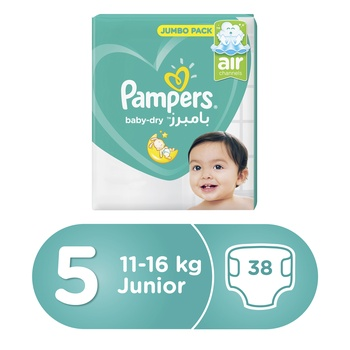 Pampers Active Baby 5 Junior (11-16kg) 38pcs
