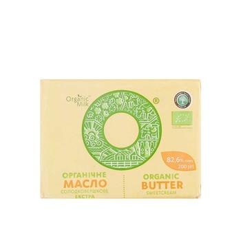 Organic Milk  Butter 82.6% 200g