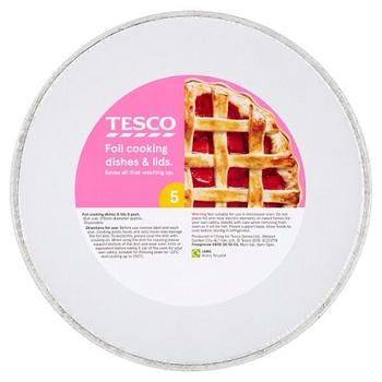 Tesco Oven Foil Round Cooking Dish 5 Pack