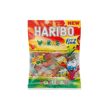 Haribo Jelly Candy Fizz Worms 160g