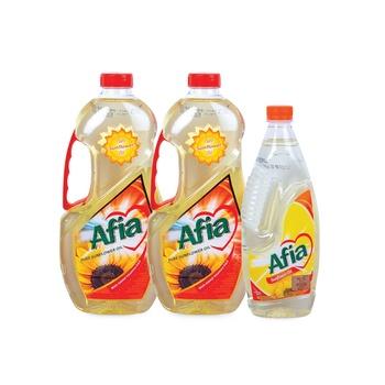 Afia Sunflower Oil 2X1.5ltr + 750g