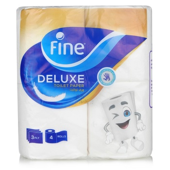Fine Toilet Tissue Rolls 4x150x3 Ply