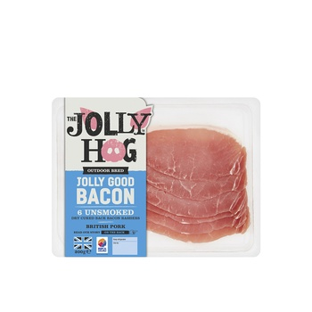 The Jolly Hog Back Unsmoked  Bacon 200g