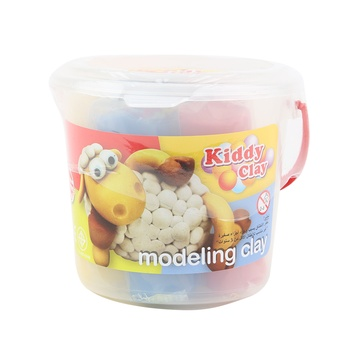 Kiddy Clay Modelling Clay Set - 5 Colors Bucket