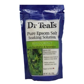 Dr. Teals Epsom Bath Salt Eucalyptus & Spearmint 450g