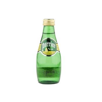 Perrier Natural Sparkling Mineral Water Lemon Glass Bottle 200 ml