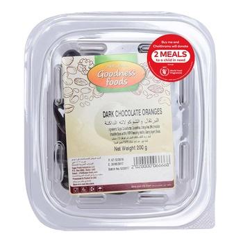 Goodness Foods  Dark Chocolate Oranges 200g