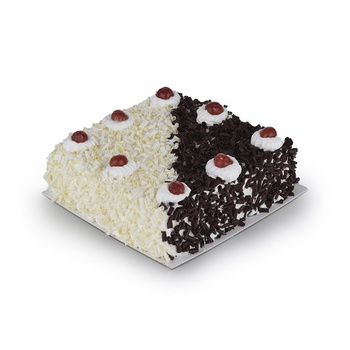 Vienna Bakery Black & White Forest Cake Square