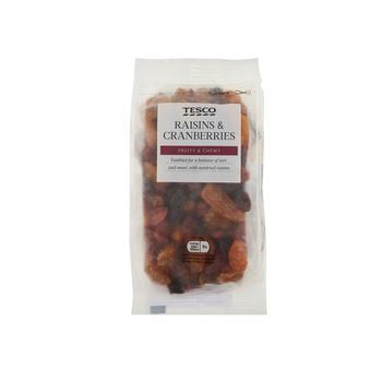 Tesco Raisins & Cranberries 300g