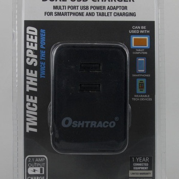 Oshtraco Dual Port USB Wall Charger